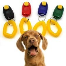 Portable Dog Button Clicker Sound Trainer Pet Training Tool Wrist Band Accessory