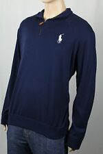 Polo Ralph Lauren Golf Navy 1/2 Lightweight Half Zip Big Pony Sweater NWT $125