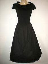 NEW VINTAGE FIFTIES STYLE TRIXIE SWING DRESS ROCKABILLY 1950's PINUP