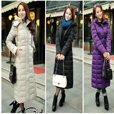 Womens Down Jacket Hooded Winter Thicken Full Length Long Coat Parka Size XL New