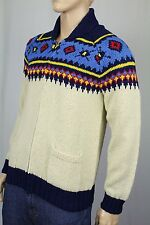 Polo Ralph Lauren Hand Knit Cream Linen Silk Full Zip Sweater NWT $395