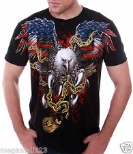 Artful Couture T-Shirt Tattoo Rock AB73 Sz M L XL XXL Eagle Heavy Metal Biker