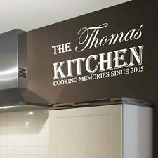 Personalized Kitchen Name Art Wall Sticker Quotes Wall Decals Words Letters