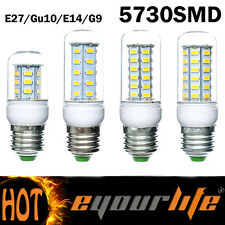 7W 12W 15W 18W E14 E27 G9 GU10 24/36/48/56 SMD 5730 LED Corn Bulb w/Cover INT