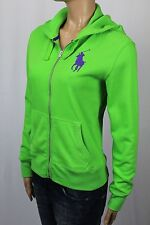 Ralph Lauren Green Full Zip Hoodie Sweatshirt Purple Big Pony NWT $165