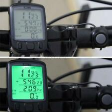 Waterproof Cycle Bicycle Bike LCD Computer Speedometer Odometer with Backlight