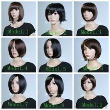 New Fashion Short Wig Women LADY Wig Straight Stylish Cosplay Party Full Wigs