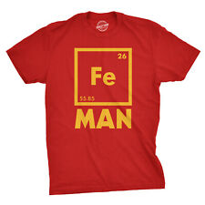 Mens Iron Man Science T Shirt Cool Novelty Funny Superhero Tee For Guys