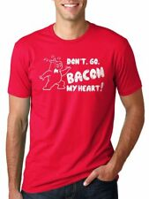 Women's Don't Go Bacon My Heart T Shirt Funny Bacon Shirt Pig Tee For Women