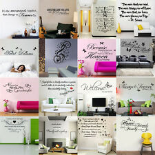 Multi Design Quote Word Vinyl DIY Art Decal Wall Stickers Home Bedroom Decor G