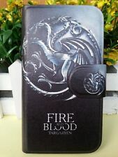 Game of Thrones Fire And Blood Dragon PU Leather Flip Case Cover For Samsung