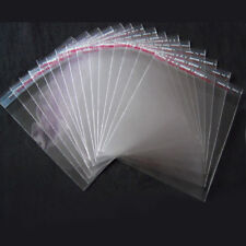 100/200Pcs Plastic OPP Clear Self Adhesive Bags Seal Jewelry Packing Bags 8*14cm