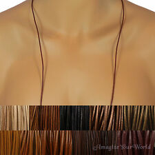 Brown Custom Leather Cord Necklace Your Size / Length to 36 inch. for pendant +