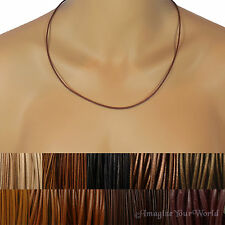 Brown Custom Leather Cord Necklace Your Size / Length to 24 inch. for pendant +