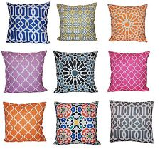 45 x 45cm Geometric Pattern Design Tiles Moroccan Cushion Covers Sofa Bed Gift