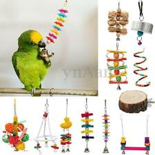 Pet Bird Parrot Chew Bite Toys Ball Stand Swing Cage Hanging Cockatiel Parakeet