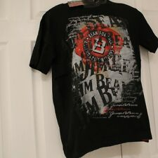 NEW MENS JIM BEAM BLACK COTTON TEE SHIRT TOP SIZE SMALL