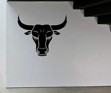Spanish Bull Head Vinyl wall sticker car decal van window LSWA7136