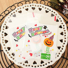 New Trick Ghost Halloween Cello Cellophane Party Favour Sweet Biscuit Gift Bags