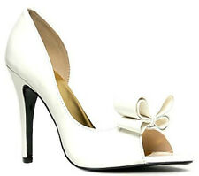 Cathy Nude White Yellow Peep toe Bow Pump Stiletto Heels Women's shoes