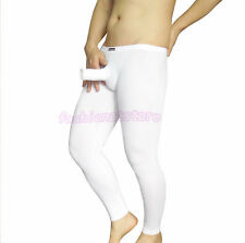 Men Front-Open Hole Penis Sheath Long johns Pants Leggings Underpants Lot M/L/XL