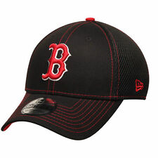 New Era Boston Red Sox Black Crux Line Neo 39THIRTY Flex Hat