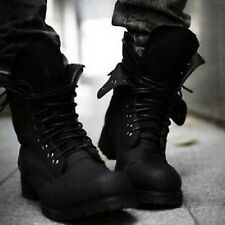 ES Retro England-style Combat boots fashionable Men's short Winter shoes 2Colors