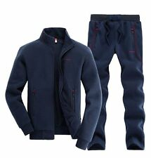 New Mens Hooded Sports Winter Warm Tracksuit Athletic Apparel Outwear Coat Pants