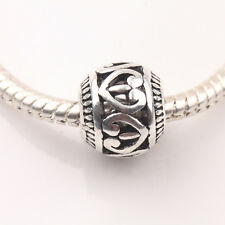 10Pcs/20Pcs Tibetan Silver Carved Round Shaped Hollow Loose Spacer Beads 10mm