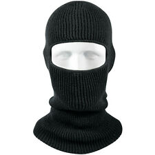 Black One Hole Acrlyic Balaclava Cold Weather Face Mask Hat