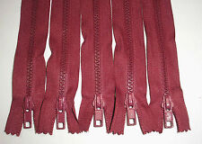"""5 - 6"""" or 7"""" or 8"""" or 9"""" Light Wine # 5 Closed End PlasticTeeth Zippers"""
