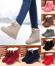 Womens Lace Up Winter Warm Thicken Shoes Ankle Snow Boots Martin Casual Boots