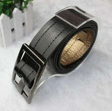 Fashion Unisex Mens Womens Buckles Perforated Faux Leather Buckle Belt JRUS