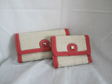 Liz Claiborne Persimmon & Cream Large or Small Wallet U Pick Size NEW w Tags