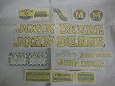 John Deere M Styled 1947-1952 Decal Set -  Vinyl Cut