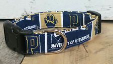 University of Pittsburgh Panthers BUCKLE dog collar with leash set option