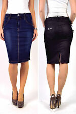 FORNARINA Skirt EVA Pencil Skirt black & Blue Size XS / S / M - NEW