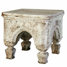 Bedford Outdoor Garden Stool Bench by Orlandi Statuary -Faux Concrete