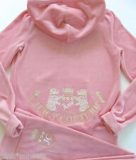 Juicy Couture Velour Tracksuit Pink Old School Hoodie Pants Scotty Crest Track