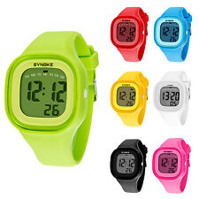 SYNOKE Kids Waterproof Sports Watch Candy Color Digital Watch Silicone Band