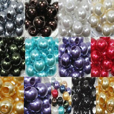Lots 20pcs Charm Acrylic Spacer Big Hole Rondelle Loose Beads Bracelet 16*13MM