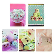 Cute Marshmallow Floral Flip Stand PU Leather Case For Universal 7/10inch Tablet