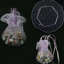 20/50/100Pcs Purple Organza Jewelry Packing Pouch Wedding Favor Gift Bag 255mm