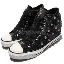 Converse Chuck Taylor All Star Lux  Black Stud Womens Wedges Shoes 547196C