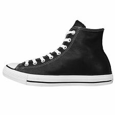 Converse Chuck Taylor All Star Hi Leather Black Classic Men Women Shoes 1S581