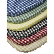 """Gingham Check Tie On Seat Pad 16"""" x 16"""" Kitchen Outdoor Dining Chair Cushion"""