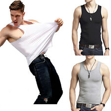 Sexy Premium Cotton A-Shirt Wife Beater Ribbed Casual Tank Top Muscle for men