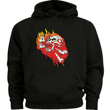 Skull hoodie Men's size skull and crossbones sweatshirt hoody punk hard core