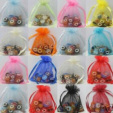 100Pcs Pouches Organza Jewelry Packing Yarn Wedding Favor Gift Bags 12x9CM