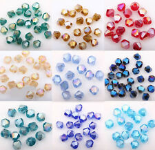 Wholesale 100Pcs Czech Crystal Charms Loose Spacer Beads Jewelry Making DIY 4mm
